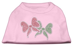 Christmas Bows Rhinestone Shirt Light Pink XL (16)
